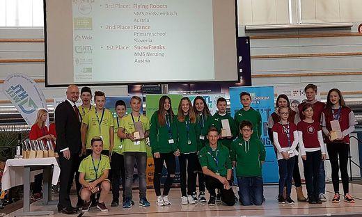 Die Schüler der NMS Großsteinbach (links) erreichten den dritten Platz