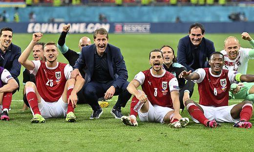 Das ÖFB-Team jubelte über den Aufstieg