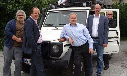 Von links: Martin Krusche, Christoph Stark, Ewald Ulrich, Robert Schmierdorfer, Franz Braunstein