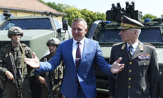 Verteidigungsminister Mario Kunasek