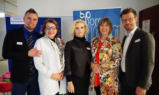 Roman Gruden (Bildungsministerium Ljubljana), Gerda Lichtberger (Borg), Milena Kerendl (Oberste slowenische Schulbehörde), Maria Richlbauer (Bildungsdirektion Stmk) Stefan Börger (Land Stmk)