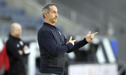 Adi Hütter bekennt sich zu Frankfurt