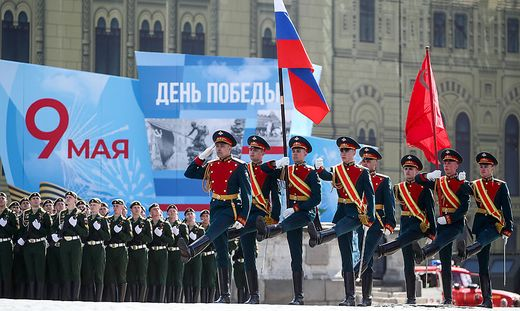 Parade am Roten Platz in Moskau zum Sieg über Hitler-Deutschlan