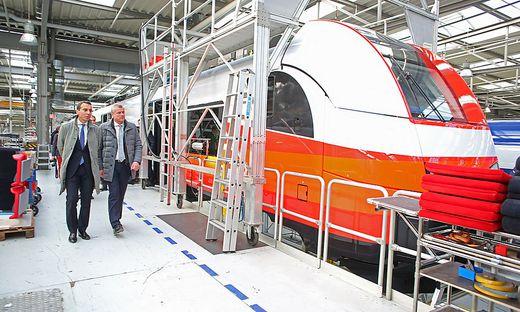 ÖBB-Chef Kern im Siemens-Werk Krefeld
