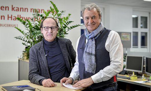 Künstler Manfred Bockelmann im Gespräch mit Adolf Winkler