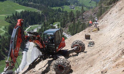 Die Bauarbeiten für den Wiederaufbau der Gailtal Straße starten