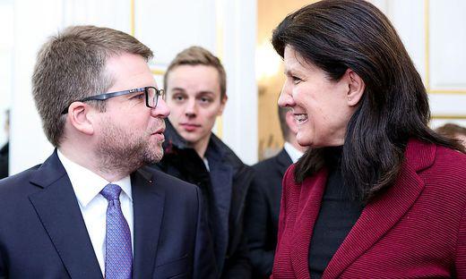 Schwarz (SPÖ) und Riener (ÖVP, re.)