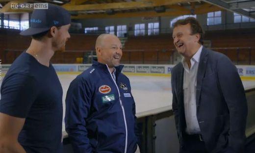 Michael Raffl, Gerhard Unterluggauer und Hanno Settele (von links)