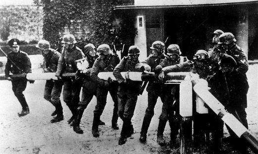 Wehrmachtssoldaten an der polnischen Grenze
