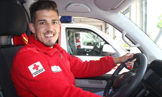Christian Mahlknecht ist auch Einsatzfahrer an der Bezirksstelle des Roten Kreuzes