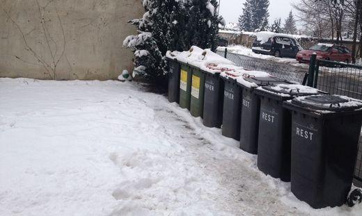 Ein neugeborenes Baby wurde am 5. Jänner 2016 hier  in einer Mülltonne in Klagenfurt gefunden