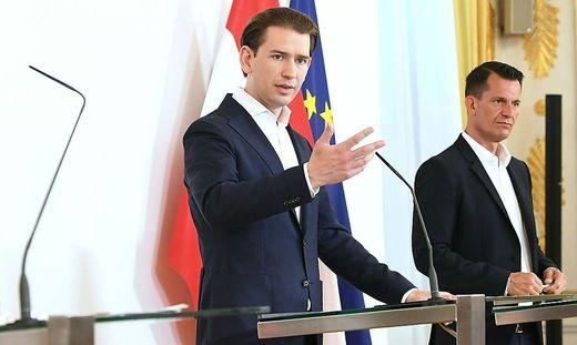 Kanzler Kurz und Gesundheitsminister Mückstein