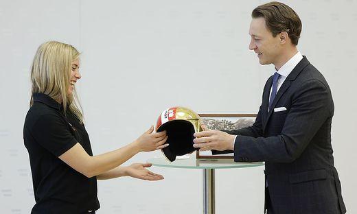 Katharina Liensberger und Gernot Blümel
