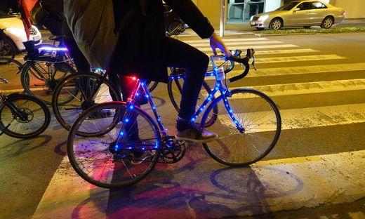 Fahrrad bei Critical Mass