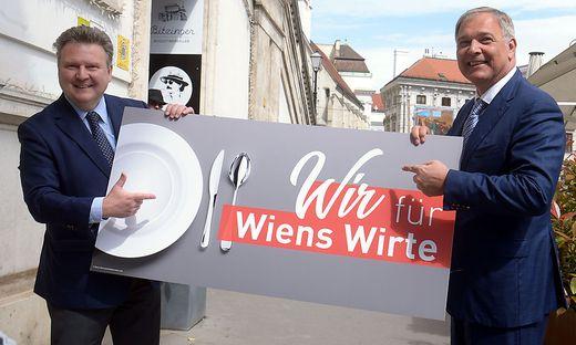 Wiens Bürgermeister Michael Ludwig (SPÖ/l.) Wirtschaftskammer Präsident Walter Ruck (ÖVP)