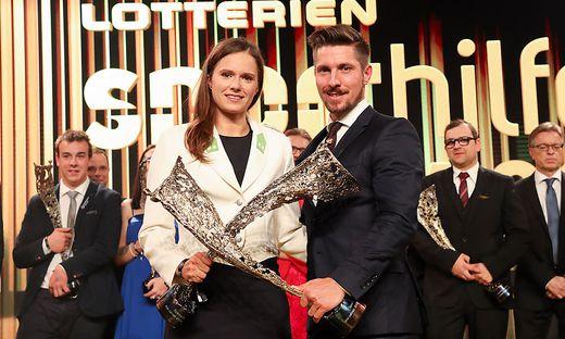 Die Vorjahressieger: Vanessa Herzog und Marcel Hirscher