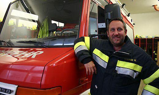 Kommandant und Gerätewart bei der Freiwilligen Feuerwehr Ledenitzen: Werner Klewein