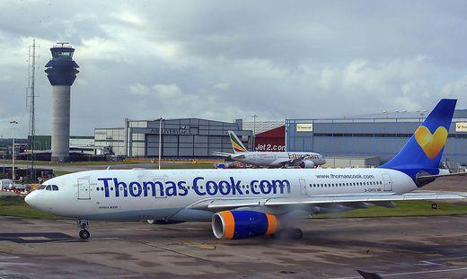 Flugzeug von Thomas Cook