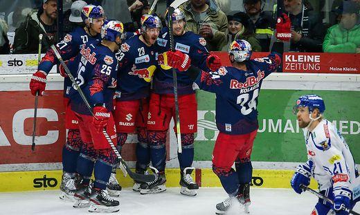 Salzburg jubelte in den zweiten 20 Minuten gleich fünfmal