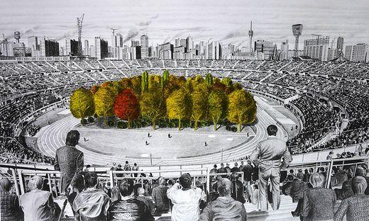 Ein Wald im Wörthersee Stadion scheidet derzeit die Geister