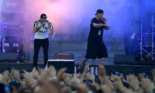 Raf Camora mit Rap-Kollege Bonez MC