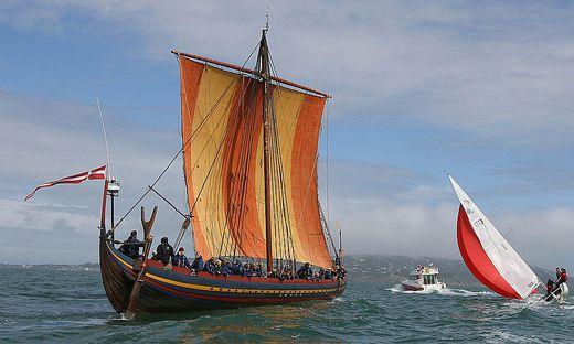 Replica Viking ship