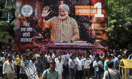 Premierminister Modi wird gefeiert