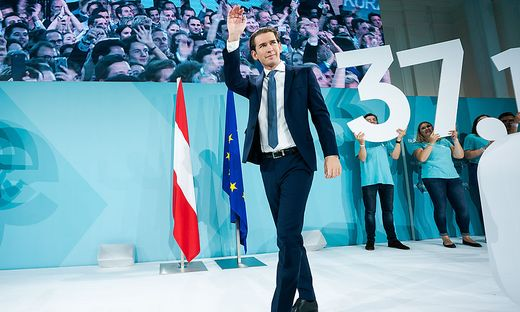 Sebastian Kurz bei der Wahlfeier der ÖVP