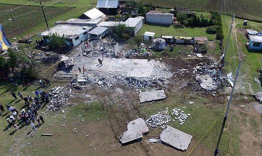 Das Gebäude nach der Explosion