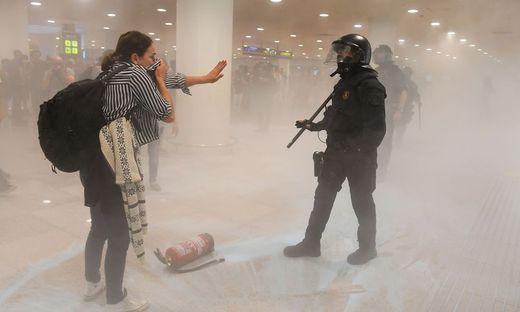 Demonstranten sorgten am Flughafen von Barcelona für Beeinträchtigungen