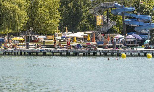 Das Strandbad Klagenfurt hat auch noch im Oktober geöffnet.