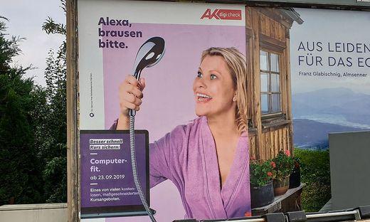 """Eines der beanstandeten Plakate: Kropiunig bewirbt satirisch den """"AK Digicheck"""""""