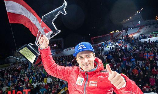 Matthias Mayer nach seinem Sieg in Kitzbühel