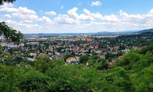 Blick von den Hängen des Plabutsch auf Graz