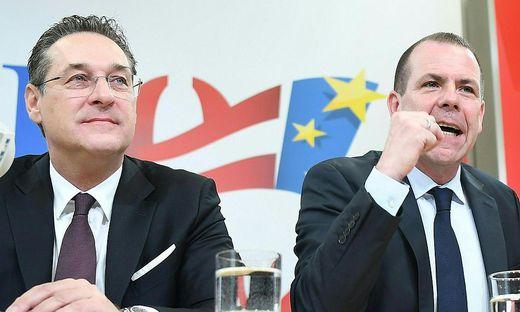 PK FPOe 'KANDIDATEN-LISTE FUeR DIE EUROPAWAHL': STRACHE / VILIMSKY