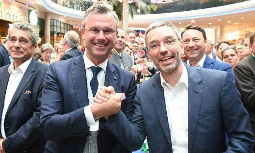 Demonstrieren Einigkeit: Norbert Hofer und Herbert Kickl