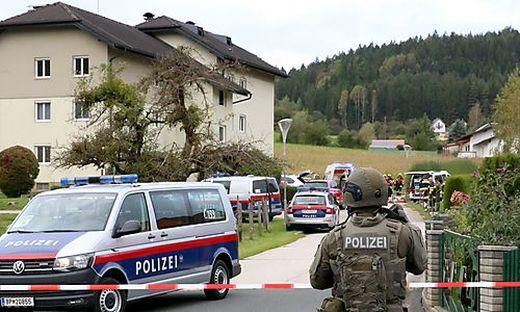 Am 1. Oktober detonierte die Paketbombe vor dem Wohnhaus in Guttaring