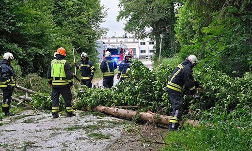 UNWETTER: SITUATION IN OBER�STERREICH / BEZIRK BRAUNAU
