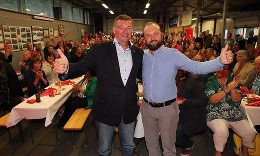 Den Wahlkampfauftakt der SPÖ für die Region Obersteiermark West bestritten Jörg Leichtfried und Max Lercher im Bergbaumuseum in Fohnsdorf