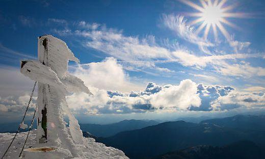 Das Gipfelkreuz der Hohen Veitsch