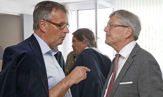 Gernot Nischelwitzer (links) redet LH Peter Kaiser ins Gewissen