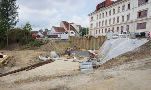 Vom Wüstenrotplatz zum Bäckerwiesenweg entsteht derzeit die Geh- und Radwegunterführung