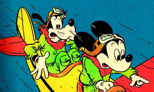 Donald und Micky in der ersten Ausgabe
