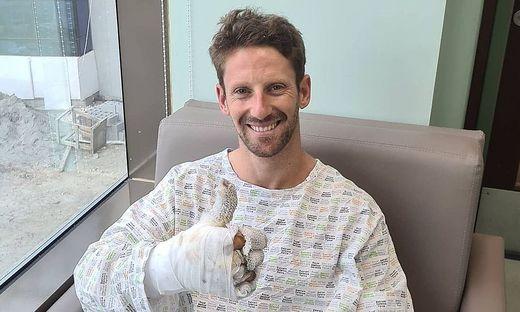 Romain Grosjean im Krankenhaus