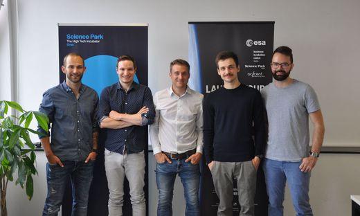 Gründer-Quintett von Strykerlabs: Christoph Glashüttner, Philipp Klöckl, Patrick Fuchshofer, Axel Widorn und Marco Rauscher