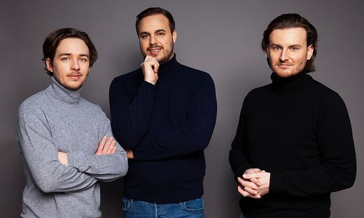 Bitpanda-Gründer Christian Trummer, Paul Klanschek, Eric Demuth