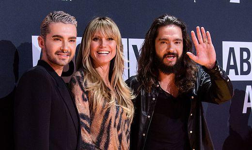 Bill Kaulitz, Heidi Klum und ihr Ehemann Tom Kaulitz (von links)