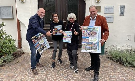 Laden zum Internationalen Kärnten Marathon: Helmut Paul, Andrea Pecile, Silke Saringer und Martin Treffner