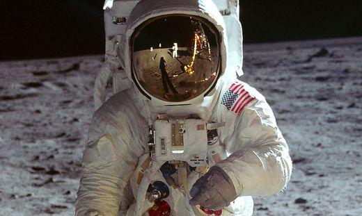 """Edwin """"Buzz"""" Aldrin, fotografiert von Neil Armstrong"""