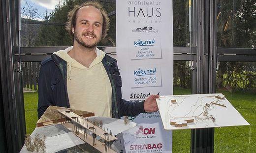 """Der Projektsieg in der Kategorie """"Hochschulen"""" ging an David Rauter, Projekt 146, Studierender der TU Graz"""